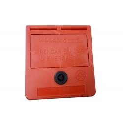 Caixa de chave de emergência (texto em catalão)