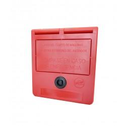 Caixa de chave de emergência (texto em espanhol)