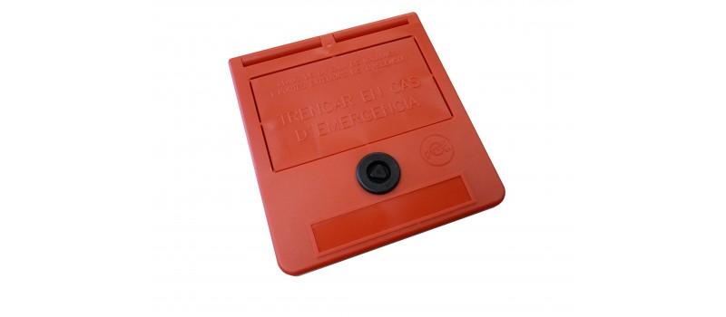 Caixa chave de emergência