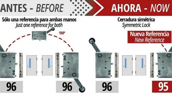 A fechadura de segurança modelo 96 tem agora mão