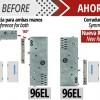 A fechadura de segurança eléctrica modelo 96EL, agora tem mão