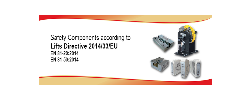 Componentes de segurança conforme con la diretiva 95/16/CE